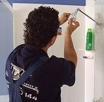 Fit-off of all plumbing fixtures